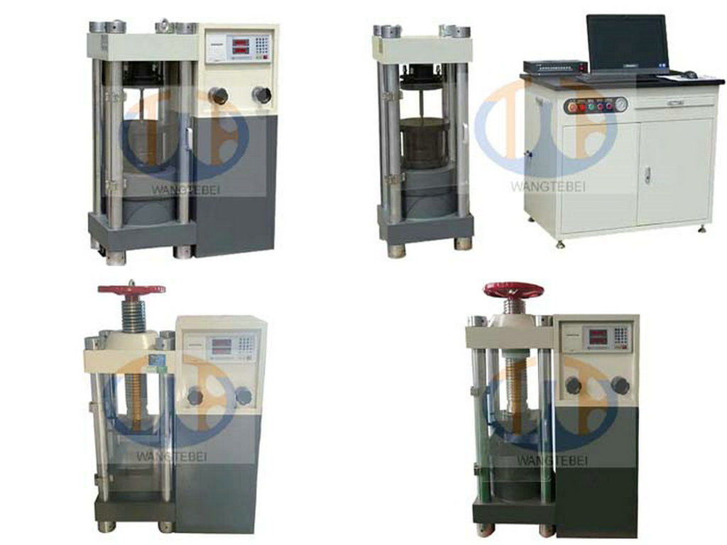 Compressive Srength Test Of Concrete Cylinder Digital Compression Testing Machine 2000KN